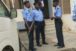 BREAKING: Onnoghen Not Yet At CCT But Security Beefed Up Ahead Of Arraignment