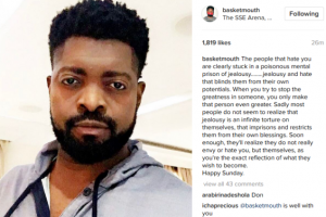 Basketmouth gives his Sunday sermon…( Speaking about jealousy and hate)