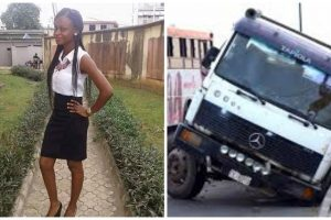Beautiful Yabatech student killed while trying to save younger brother from a speeding trailer (photos)