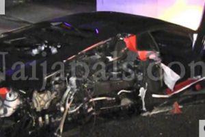 Chris Brown's old Lamborghini completely destroyed in Beverly Hills (photos)