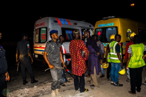 Commercial bus falls at Anthony road, Lagos, injures passengers