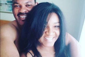 Omotola Jalade shares topless photo with husband to wish fans a happy valentine