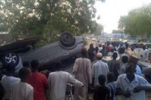 Photos: Child feared dead, several injured in accident in Maiduguri