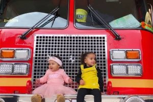 These Photos of True Thompson and Dream Kardashian's Fire Station Visit Are Too Cute
