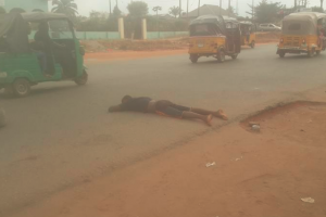 Young man found lying unconscious on road in Owerri rescued alive Photos