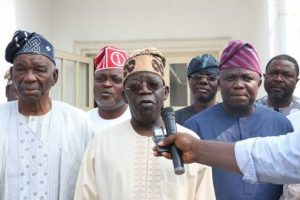 BREAKING: Tinubu Attends Peace Meeting With Ambode, Says 'No Question of Impeachment'