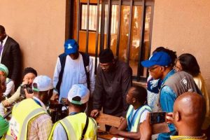 PHOTOS: INEC Chairman Pays Abrupt Visit Polling Units In Abuja