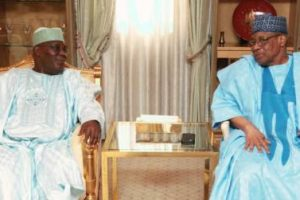 Babangida Advises Atiku To Close Ranks And Work With Buhari