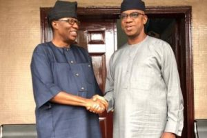 Dapo Abiodun Meets Gbenga Daniel Behind Closed Door Hours After His Resignation From PDP
