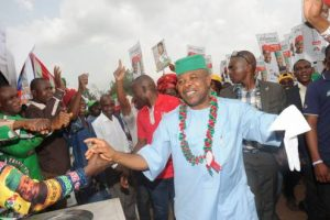 JUST IN: PDP's Emeka Ihedioha Leads Okorocha's Son-In-Law In Imo After 11 LGs