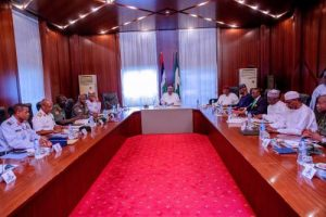 Buhari Meets With Security Chiefs Amid Rising Killings In The North-West