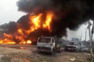 BREAKING NEWS: Pipeline Explosion Rocks Lagos, Emergency Team Says Two Dead