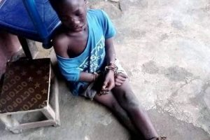 SMALL BOY CHAINED and Maltreated- See Photos