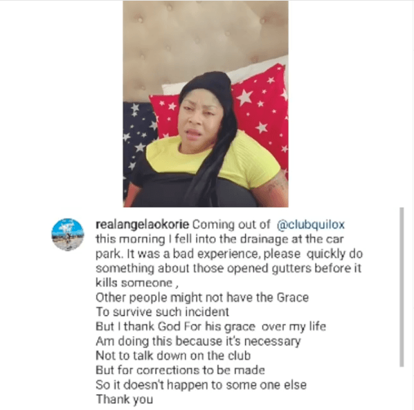 Angela Okorie Drainage Accident - Lagos State (Watch Video)